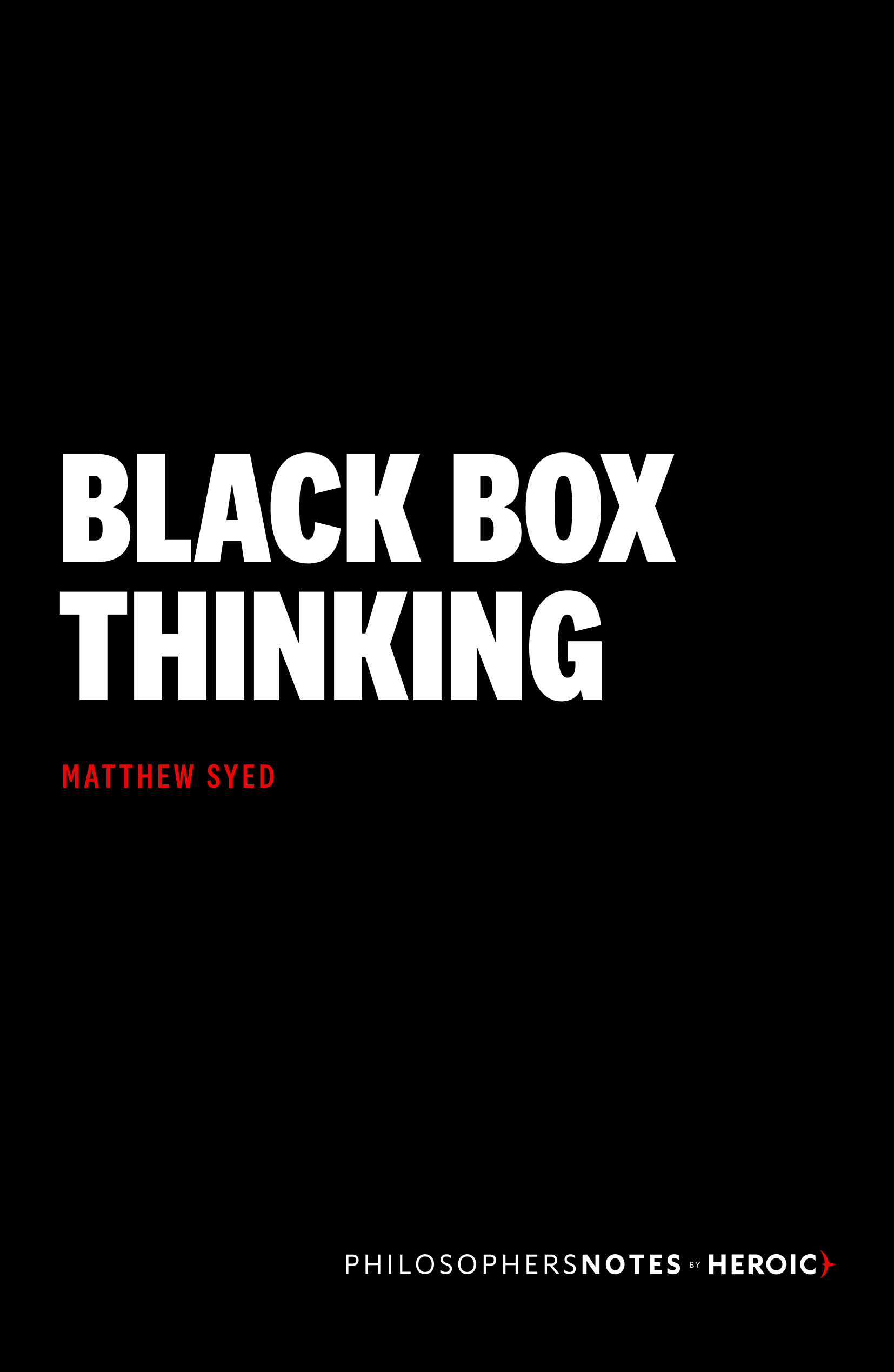 Black Box Thinking Book Cover