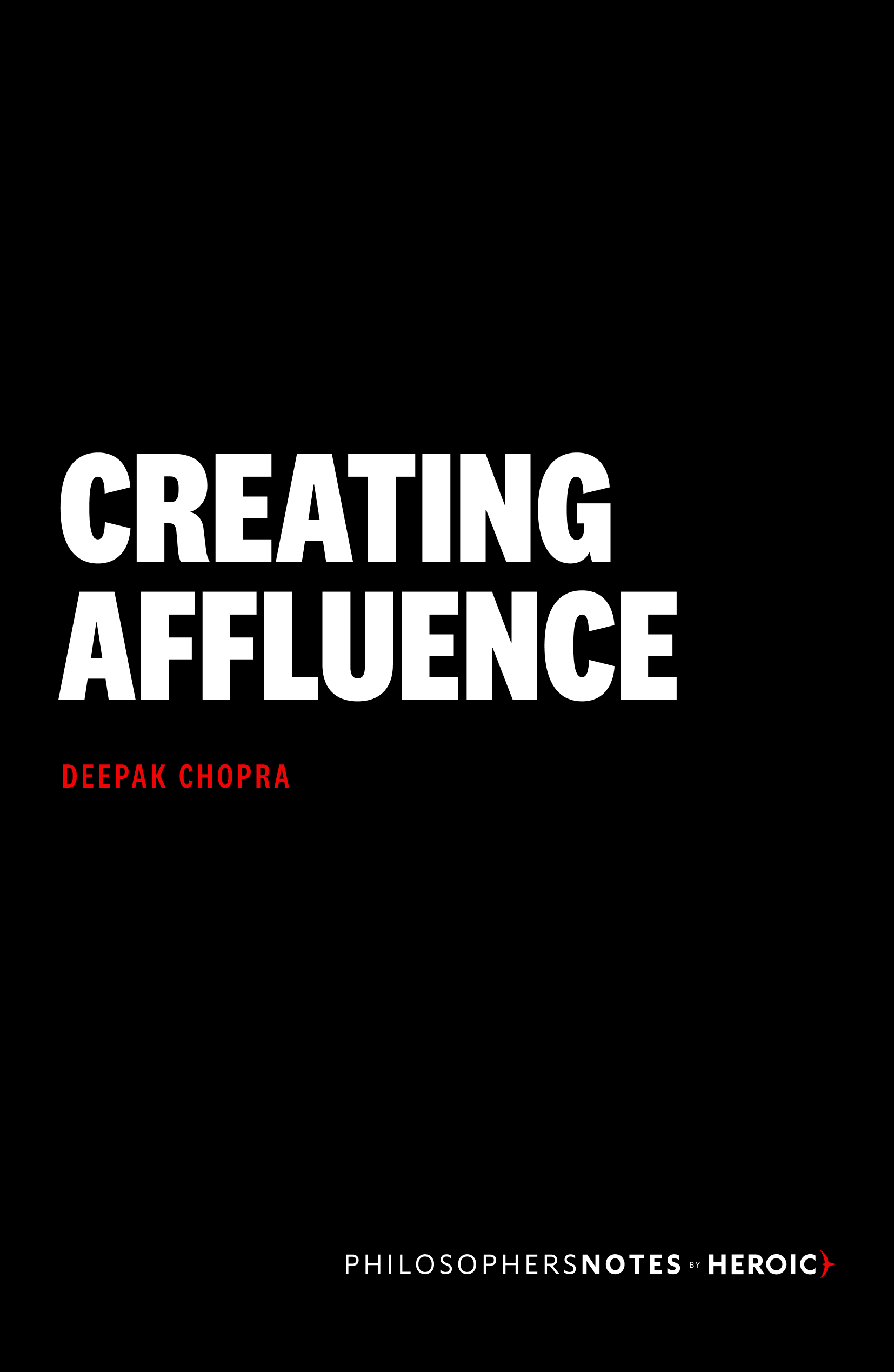 Creating Affluence Cover