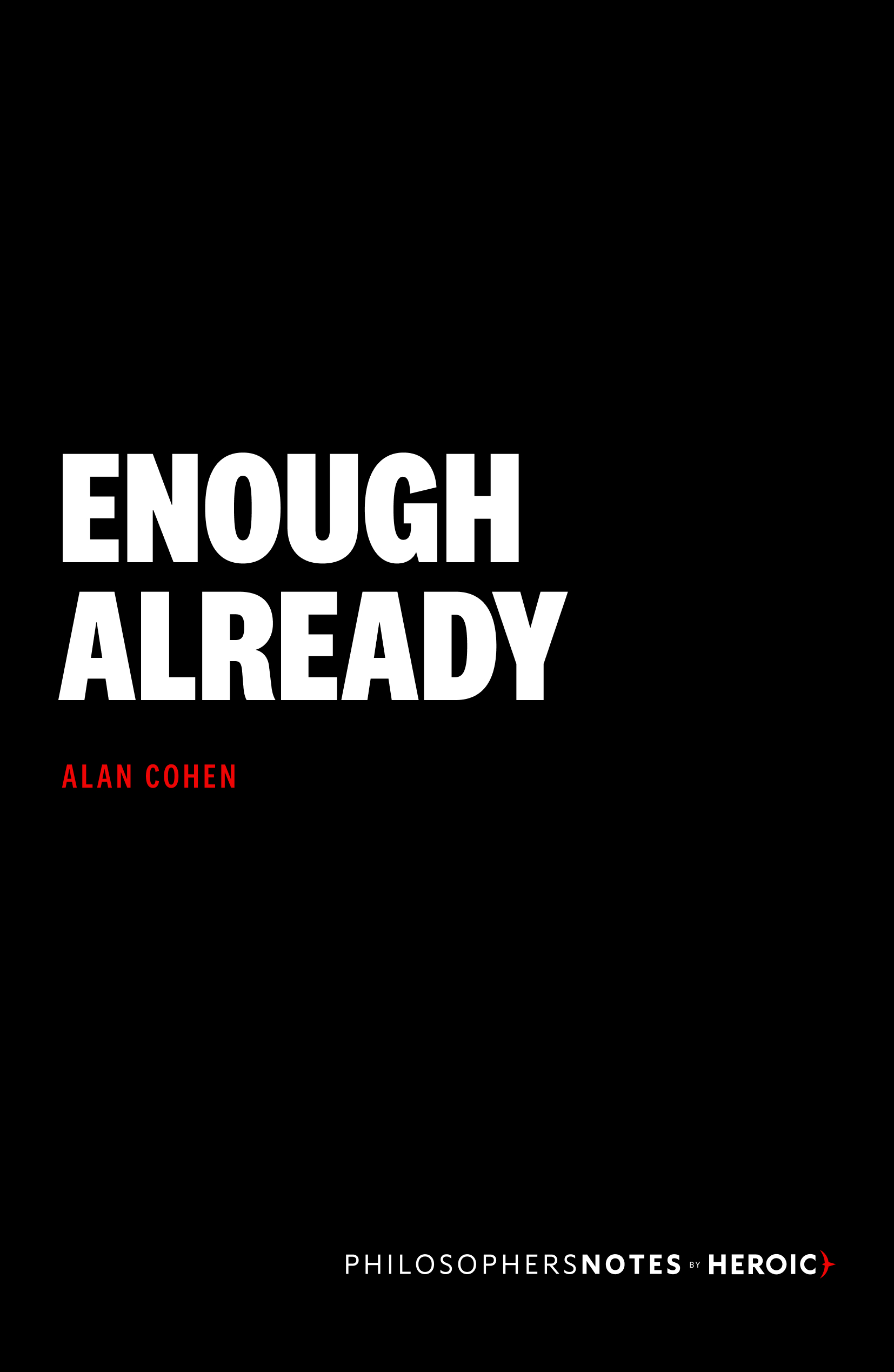 Enough Already Book Cover