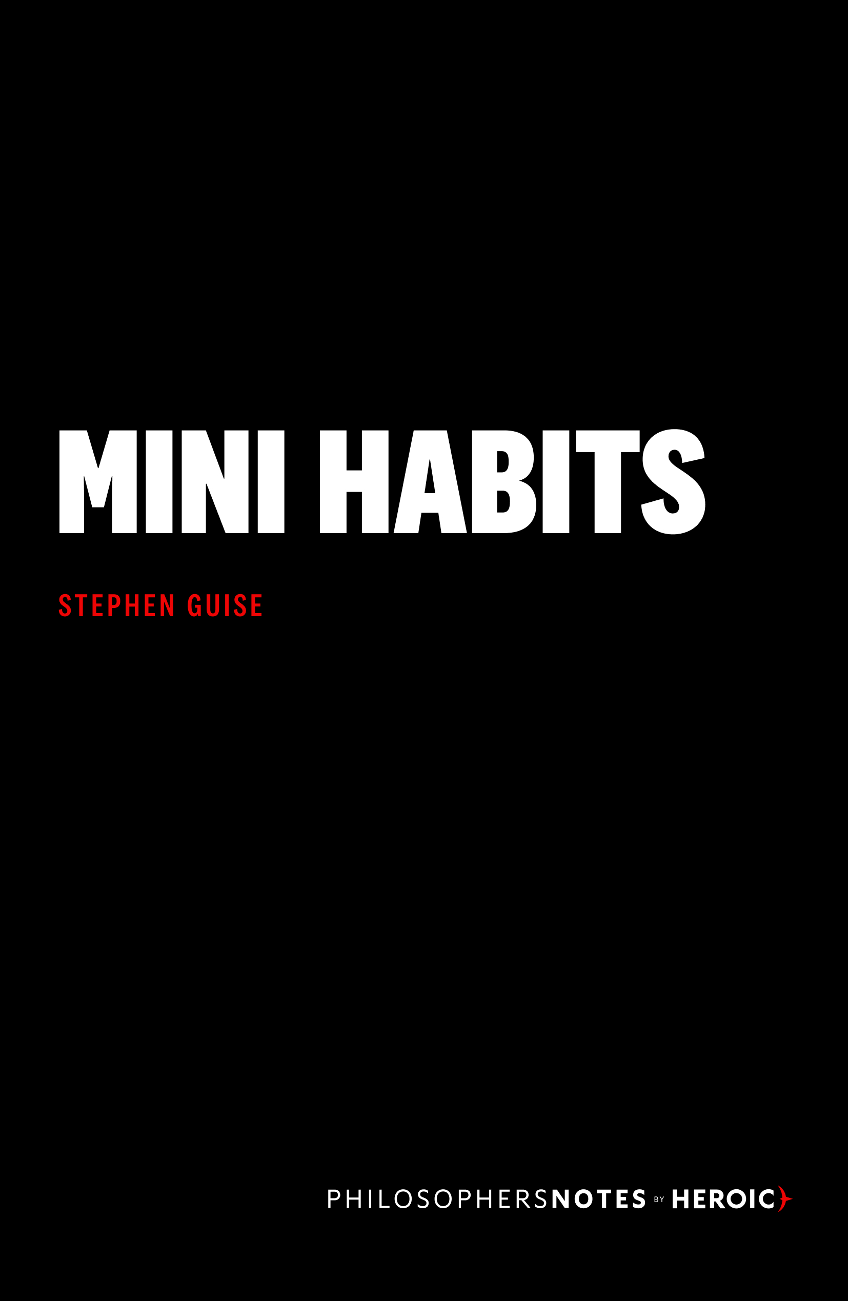 Mini Habits Book Cover