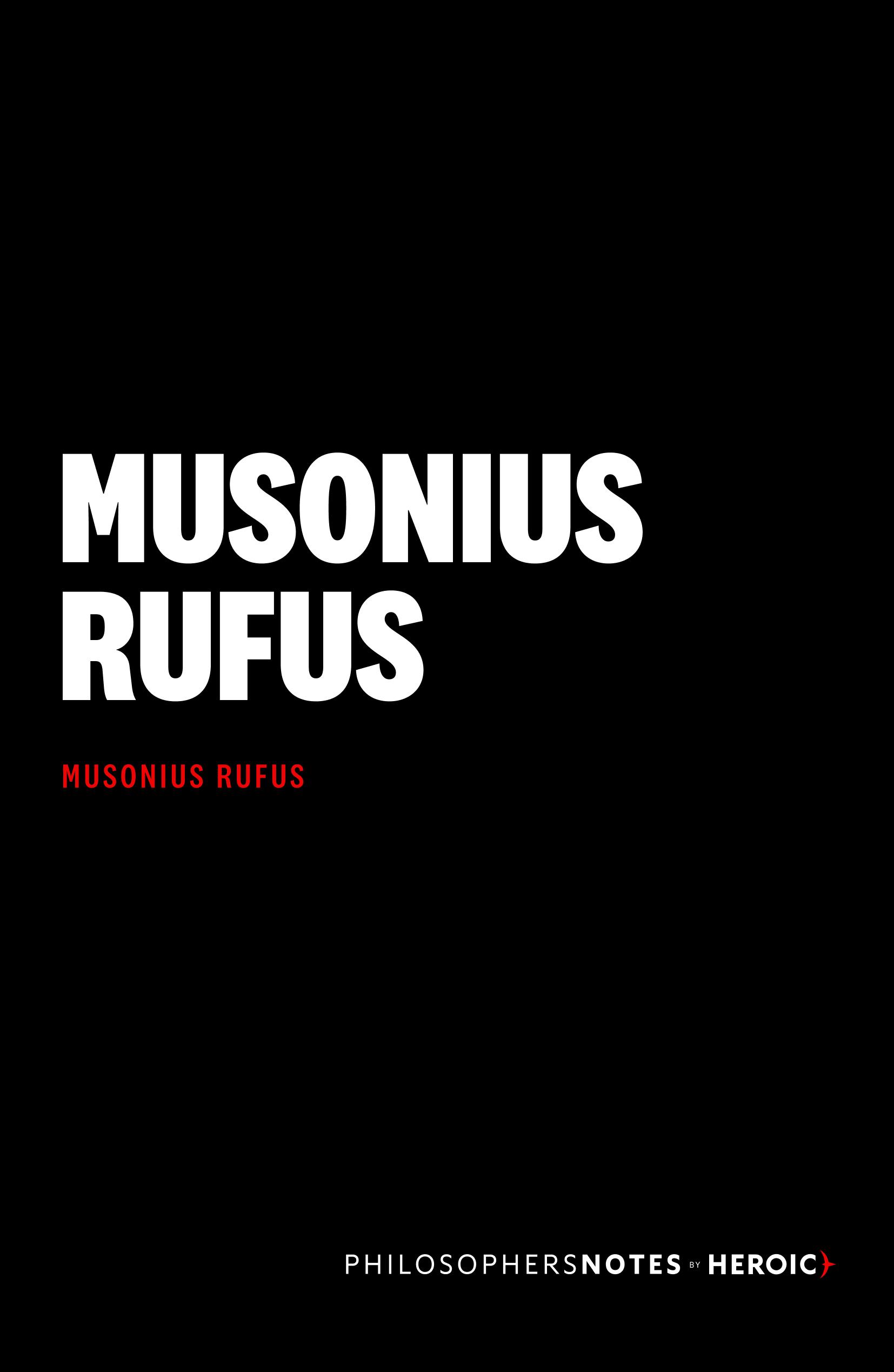 Musonius Rufus Cover