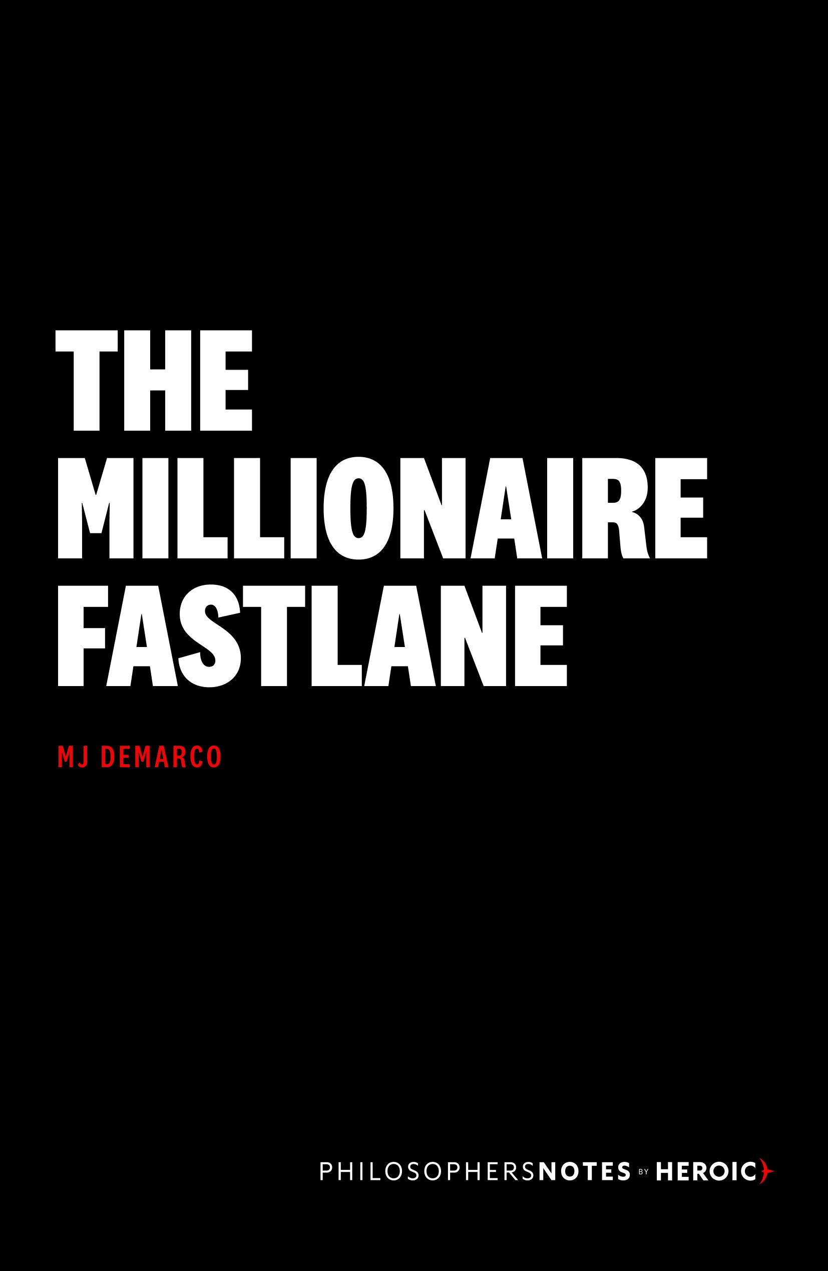 The Millionaire Fastlane Cover