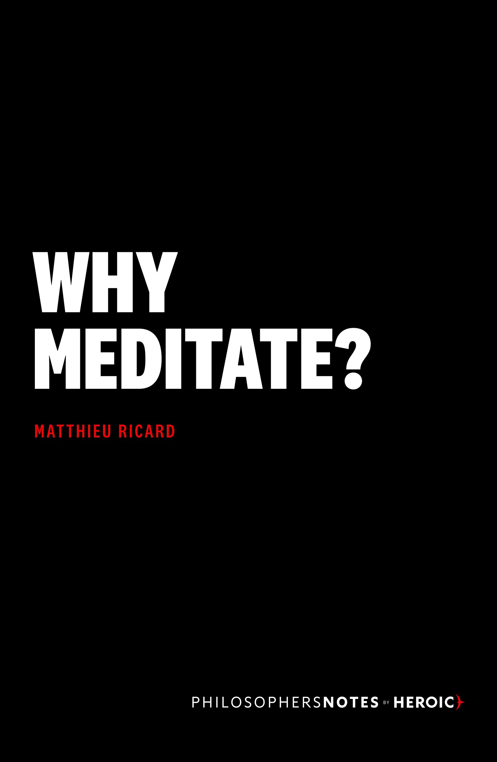 Why Meditate? Book Cover