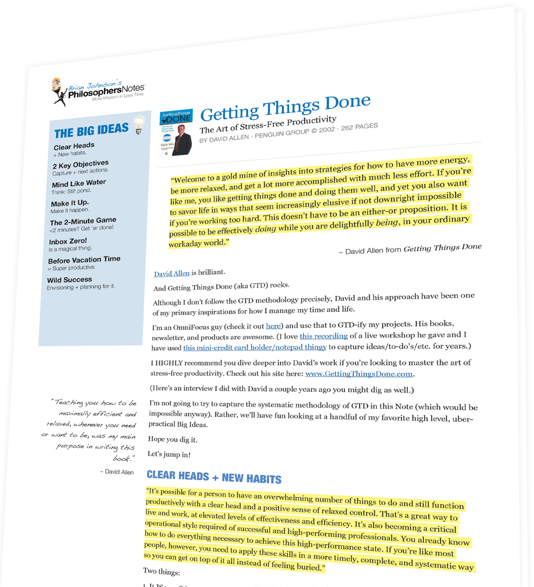 Getting Things Done The Art Of Stress-free Productivity Pdf