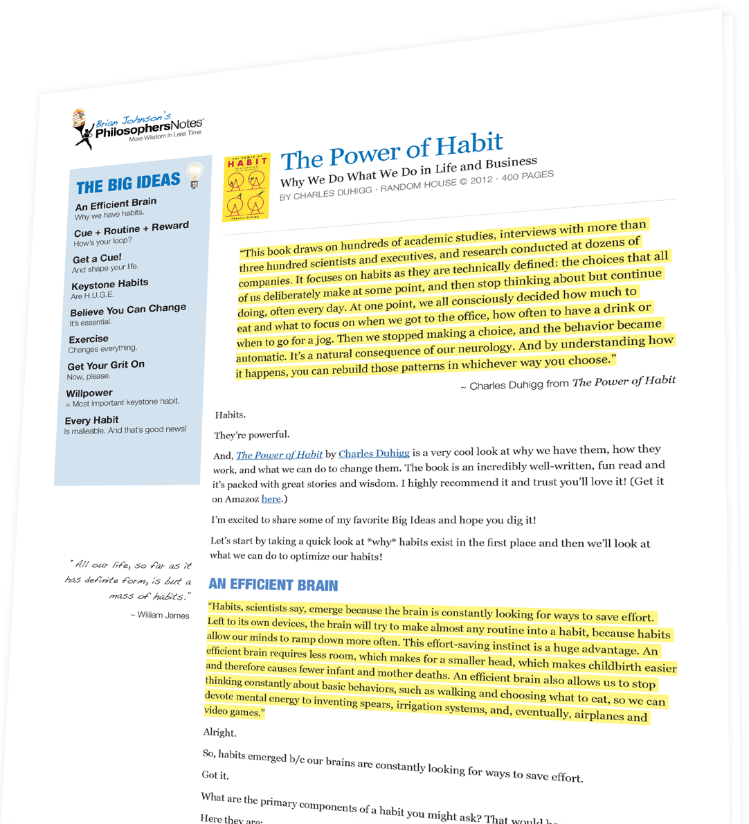 The Power of Habit by Charles Duhigg - PhilosophersNotes