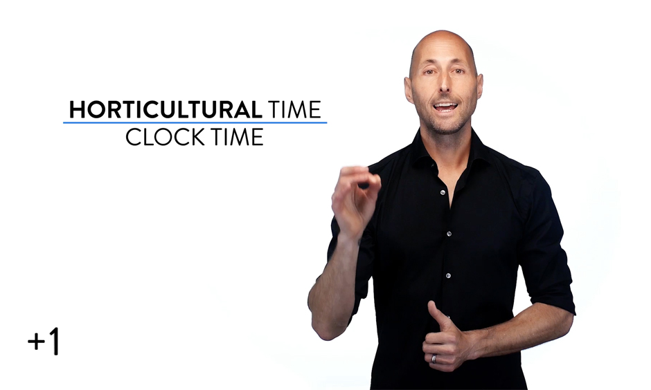 Clock Time vs. Horticultural Time