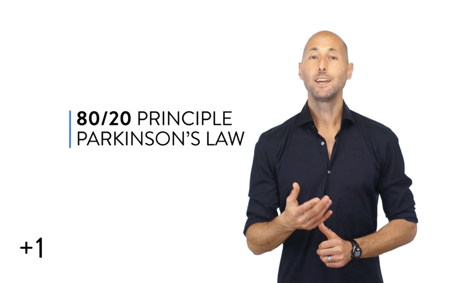 Parkinson's Law + 80/20 Principle