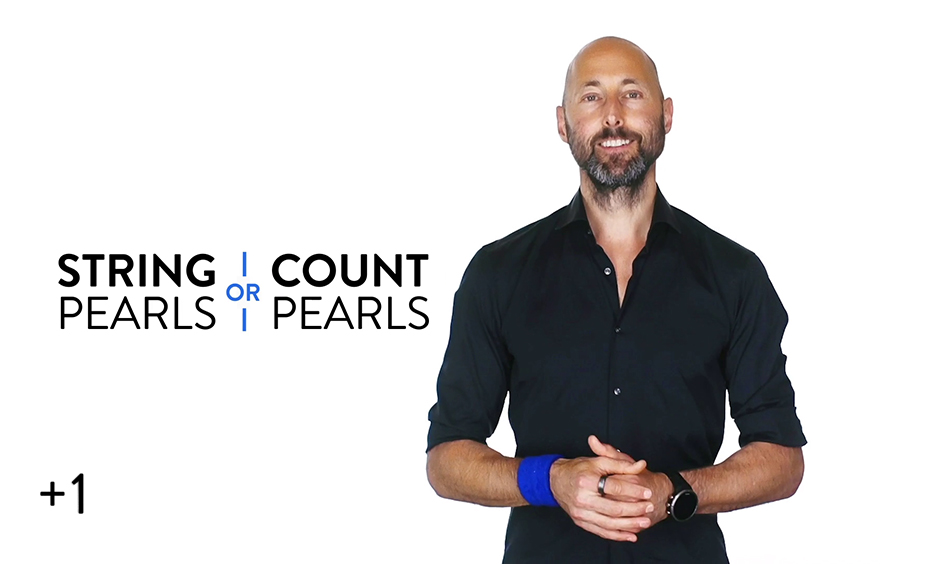 Counting Pearls vs. Stringing Pearls
