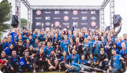 Group photo after spartan race.